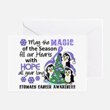 Holiday Penguins Stomach Cancer Greeting Card