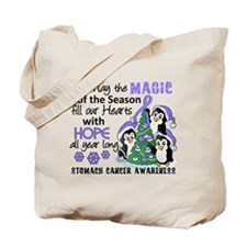 Holiday Penguins Stomach Cancer Tote Bag