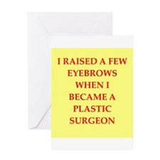plastic surgeon Greeting Card