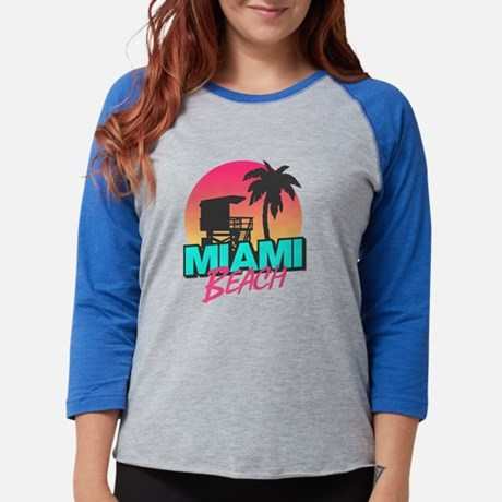 Miami beach Womens Baseball Tee