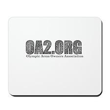 OA2 Diamond Plate Logo Mousepad