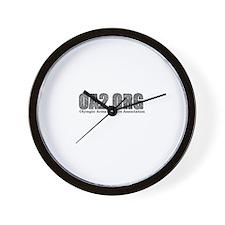 OA2 Diamond Plate Logo Wall Clock