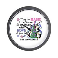 Holiday Penguins SIDS Wall Clock