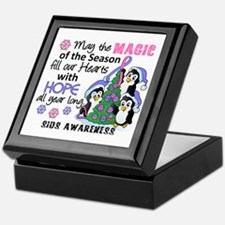 Holiday Penguins SIDS Keepsake Box
