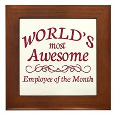 Employee of the Month Framed Tile