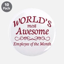 """Employee of the Month 3.5"""" Button (10 pack)"""