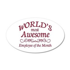 Employee of the Month Wall Decal
