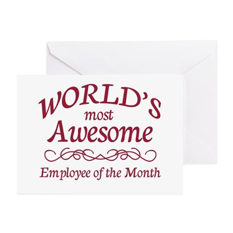 Employee of the Month Greeting Cards (Pk of 20)