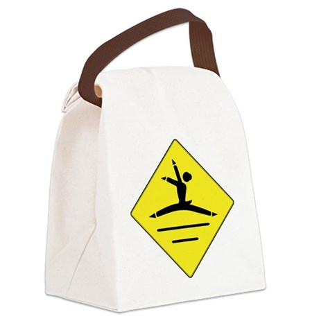dancer crosswalk sign Canvas Lunch Bag