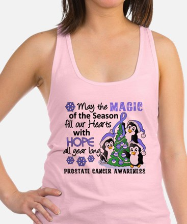 Holiday Penguins Prostate Cancer Racerback Tank To