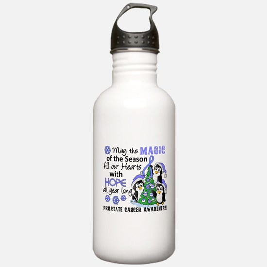Holiday Penguins Prostate Cancer Sports Water Bottle