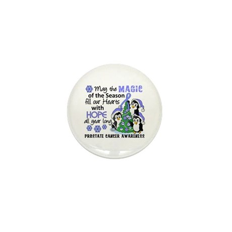 Holiday Penguins Prostate Cancer Mini Button (100