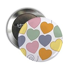 "Colorful Hearts 2.25"" Button"