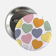 "Colorful Hearts 2.25"" Button"
