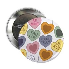"Candy Hearts 2.25"" Button"