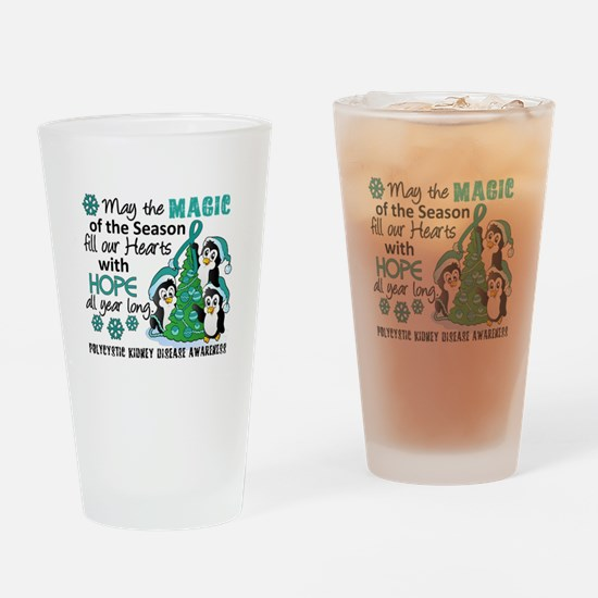 Holiday Penguins PKD Drinking Glass