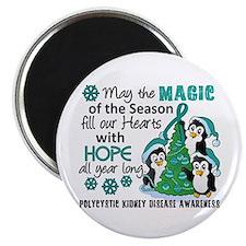 Holiday Penguins PKD Magnet