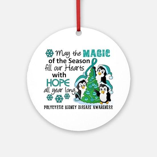 Holiday Penguins PKD Ornament (Round)