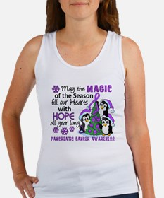 Holiday Penguins Pancreatic Cancer Women's Tank To
