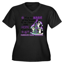 Holiday Penguins Pancreatic Cancer Women's Plus Si
