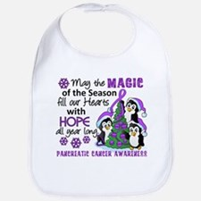 Holiday Penguins Pancreatic Cancer Bib