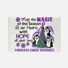 Holiday Penguins Pancreatic Cancer Rectangle Magne