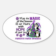 Holiday Penguins Pancreatic Cancer Decal