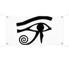 Eye of Horus Hieroglyphic Banner