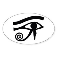 Eye of Horus Hieroglyphic Oval Decal