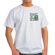 Holiday Penguins Ovarian Cancer T-Shirt