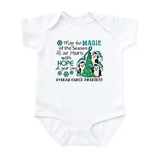 Holiday Penguins Ovarian Cancer Infant Bodysuit