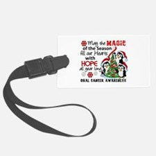 Holiday Penguins Oral Cancer Luggage Tag