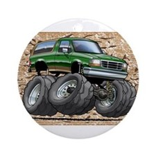 95_Green_EB_Bronco.png Ornament (Round)