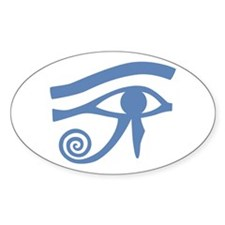 Blue Eye of Horus Hieroglyphic Decal
