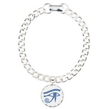 Blue Eye of Horus Hieroglyphic Bracelet