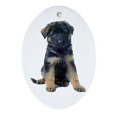 German Shepherd Ornament (Oval)