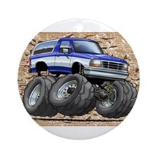 95_Blue_W_Bronco.png Ornament (Round)