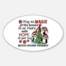 Holiday Penguins Multiple Myeloma Decal