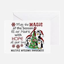 Holiday Penguins Multiple Myeloma Greeting Card
