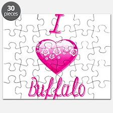I Love/Heart Buffalo Puzzle