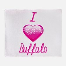 I Love/Heart Buffalo Throw Blanket