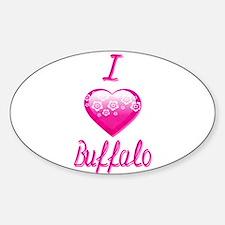 I Love/Heart Buffalo Decal
