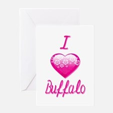 I Love/Heart Buffalo Greeting Card