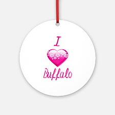 I Love/Heart Buffalo Ornament (Round)