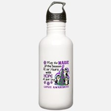 Holiday Penguins Lupus Water Bottle