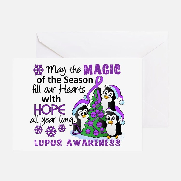 Holiday Penguins Lupus Greeting Card