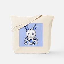 Kawaii Blue Bunny Tote Bag