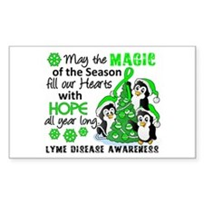 Holiday Penguins Lyme Disease Decal