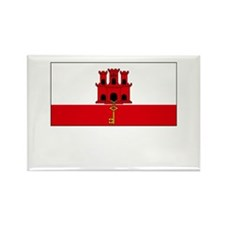 Gibraltar Flag Picture Rectangle Magnet