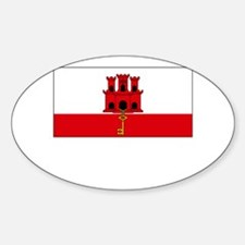 Gibraltar Flag Picture Oval Decal